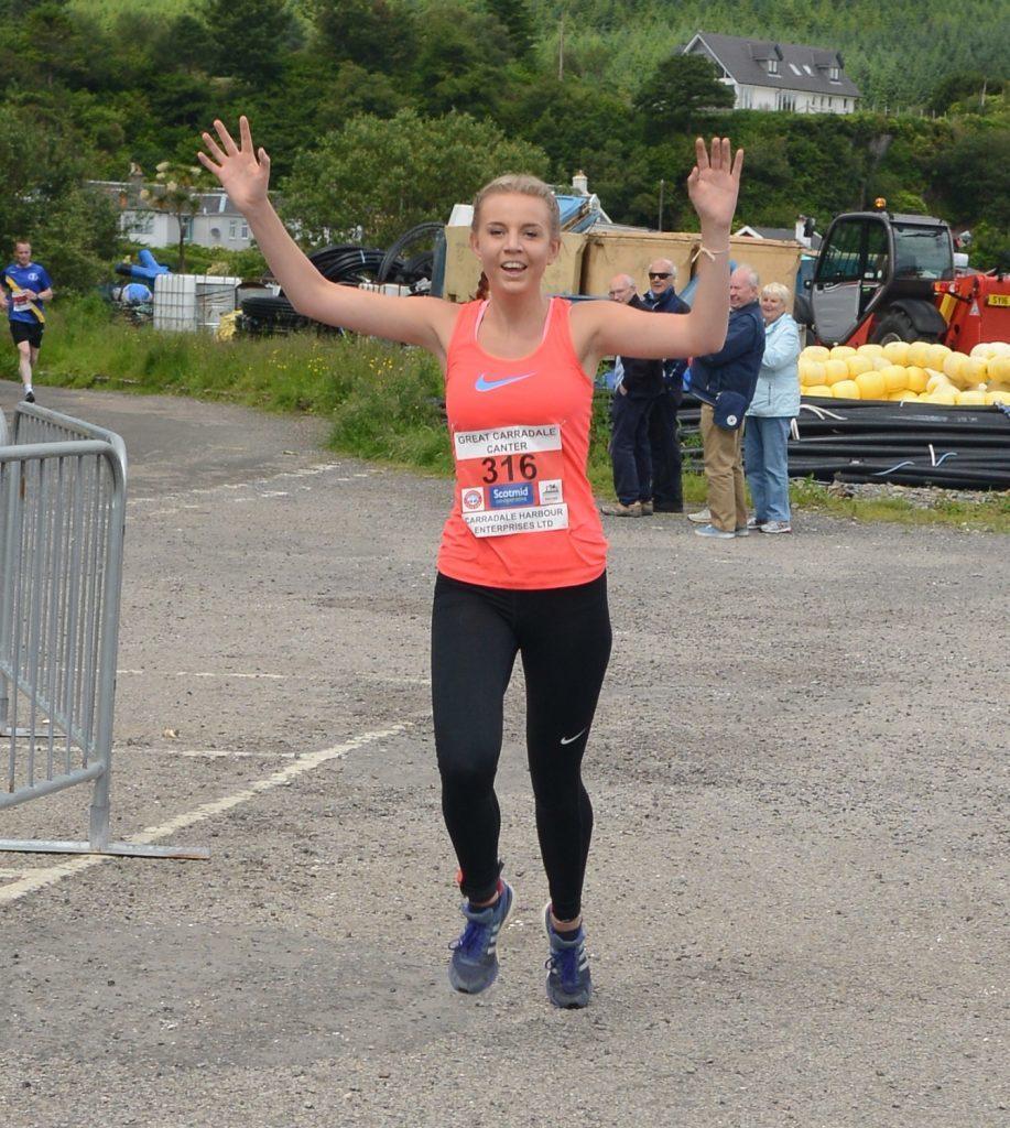Cara Gorman wins the women's 5K.