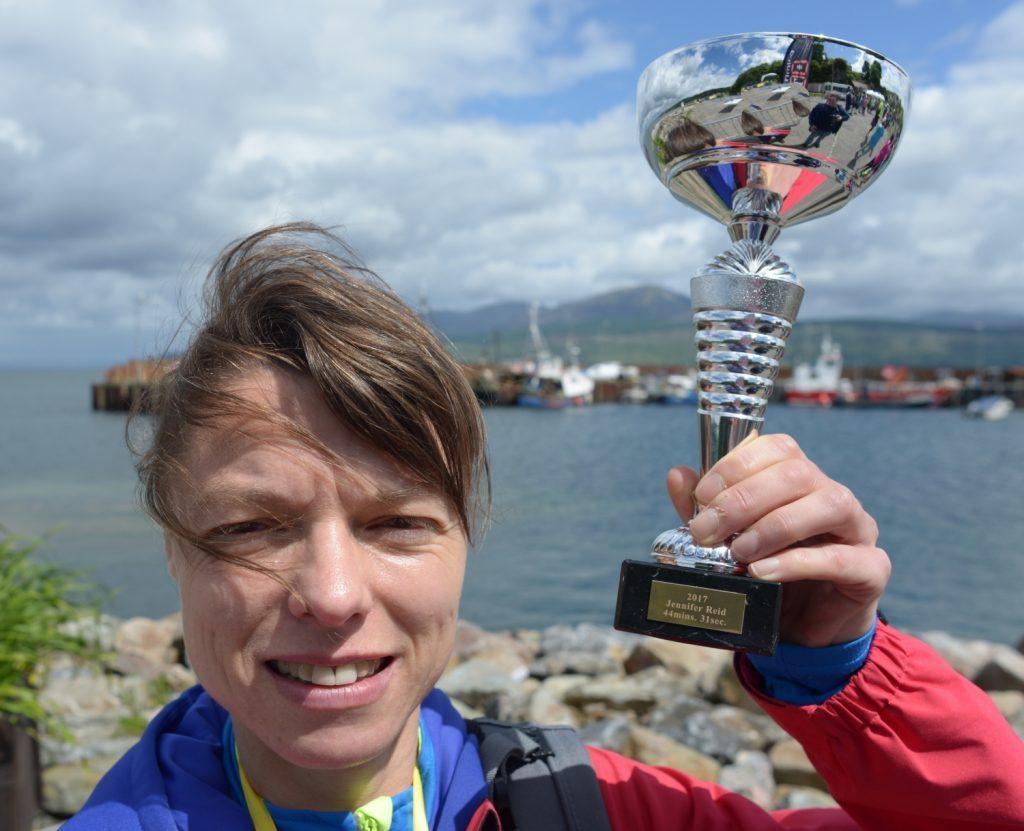 Jennifer Reid women's winner of the 10K.
