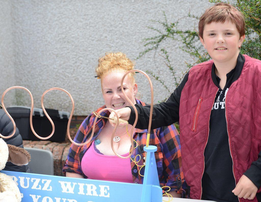 Vanessa Alexander tries her luck on Fiona Lavery-Jones' Buzz Wire. 25_c26primaryfun03