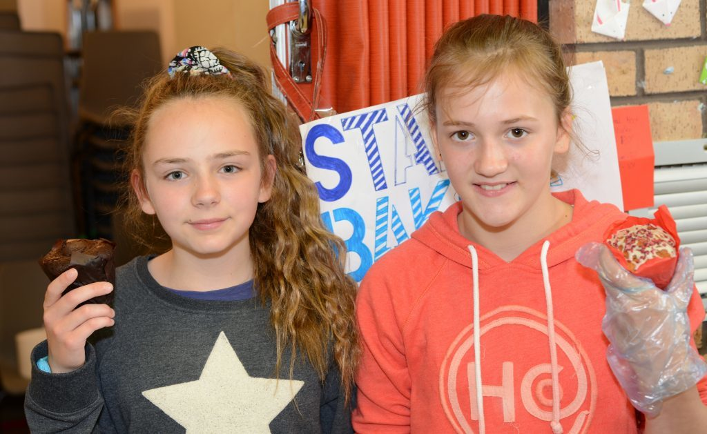 Star bakers, 11-year-olds Catriona Newman and Anna Gemmill. 25_c26primaryfun07