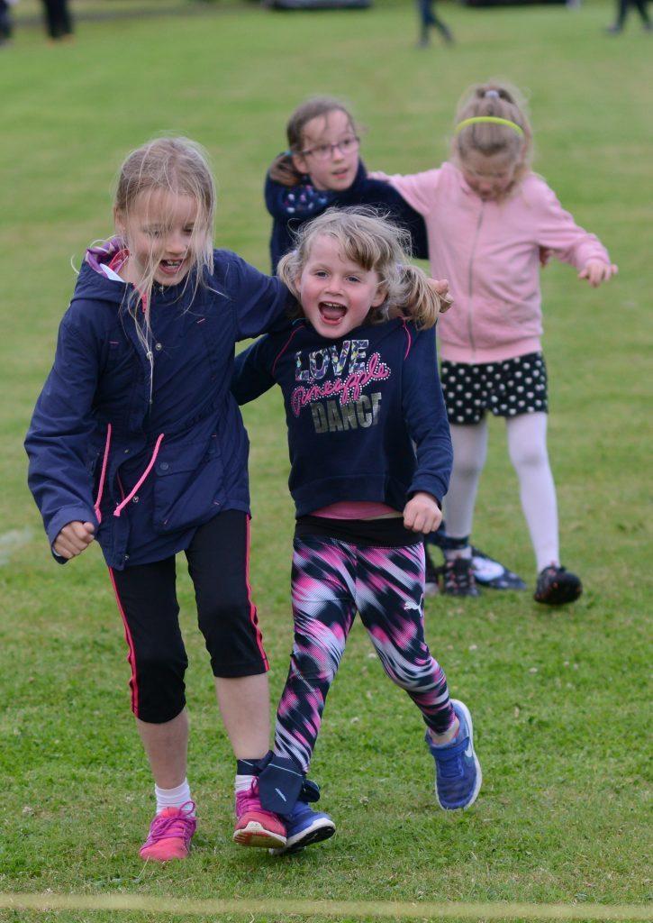 It was triple trouble as these two girls had three-legged fun. 25_c30southendgames23
