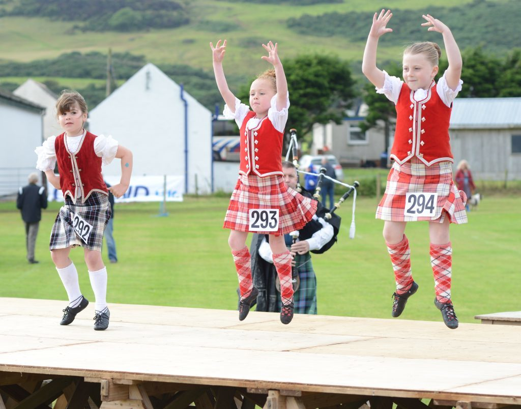 Piper Andrew McCowan provides the music as these girls compete in the Highland dancing. 25_c30southendgames26
