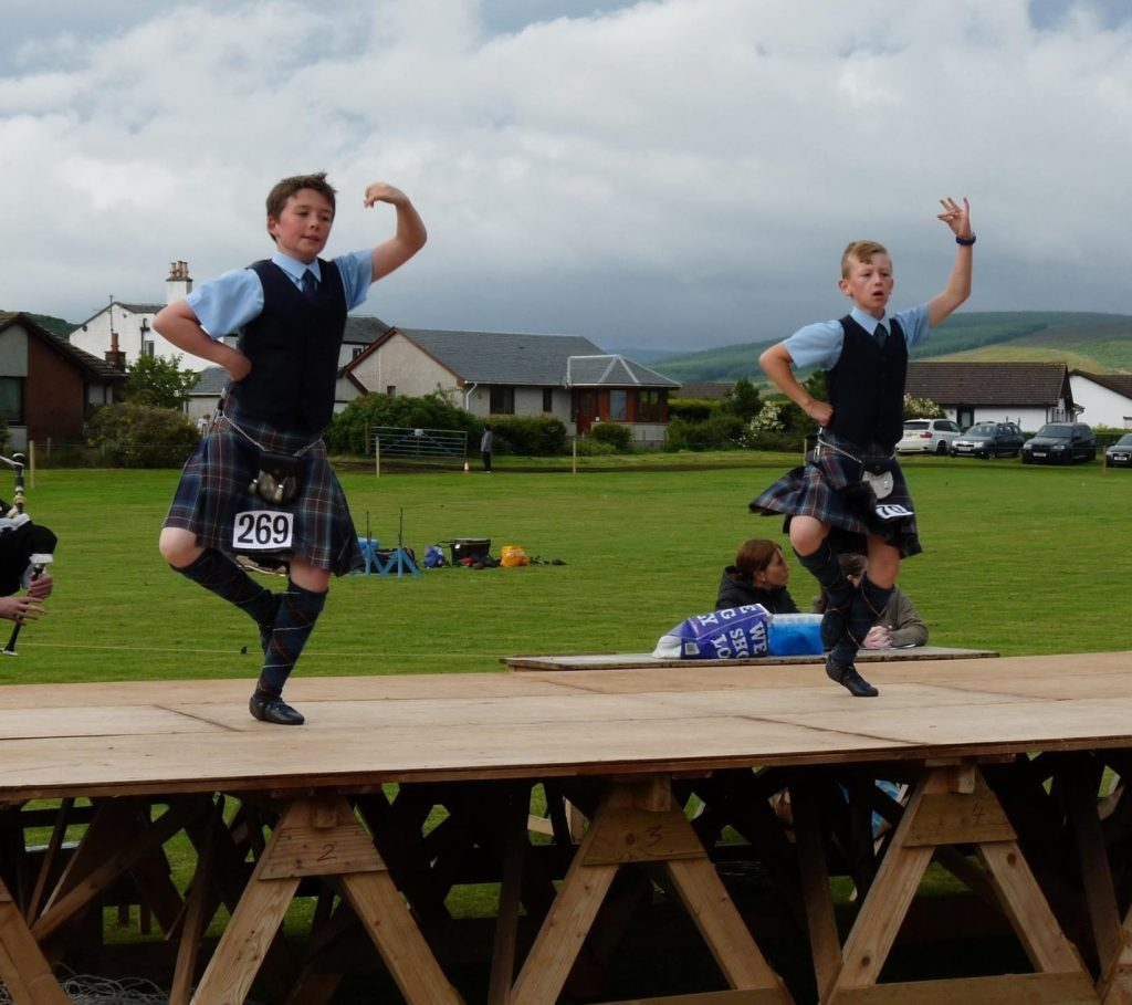 Boys in the Highland dancing are: Stuart  Adamson and Mark Connelly.