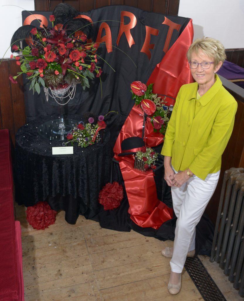 Eleanor Bennett by her display Cabaret on Saturday morning. 25_c32sadellflowers01_eleanor_Bennett