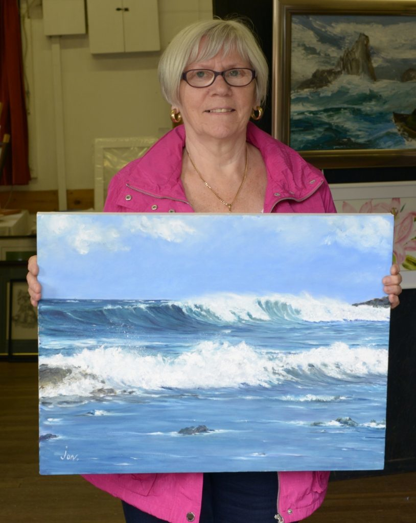 Jan McNair's Bay of Storms headed for a new home after the show. 25_c33clachanart02