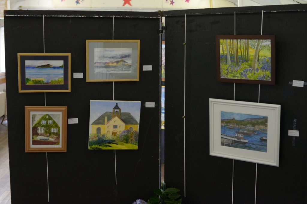 A small number of the paintings on show. 25_c33clachanart07