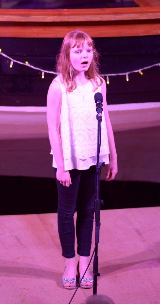 Hannah McCaig's vocal solo.