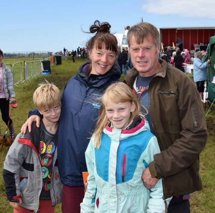 The MacDonald family travelled from Achiltibuie to enjoy the show. Mum Lisa, who grew up in Kintyre, is pictured with her husband Steve and children Finlay, eight, and Nuala, 10. 50_c32kintyreshow24_macdonald family