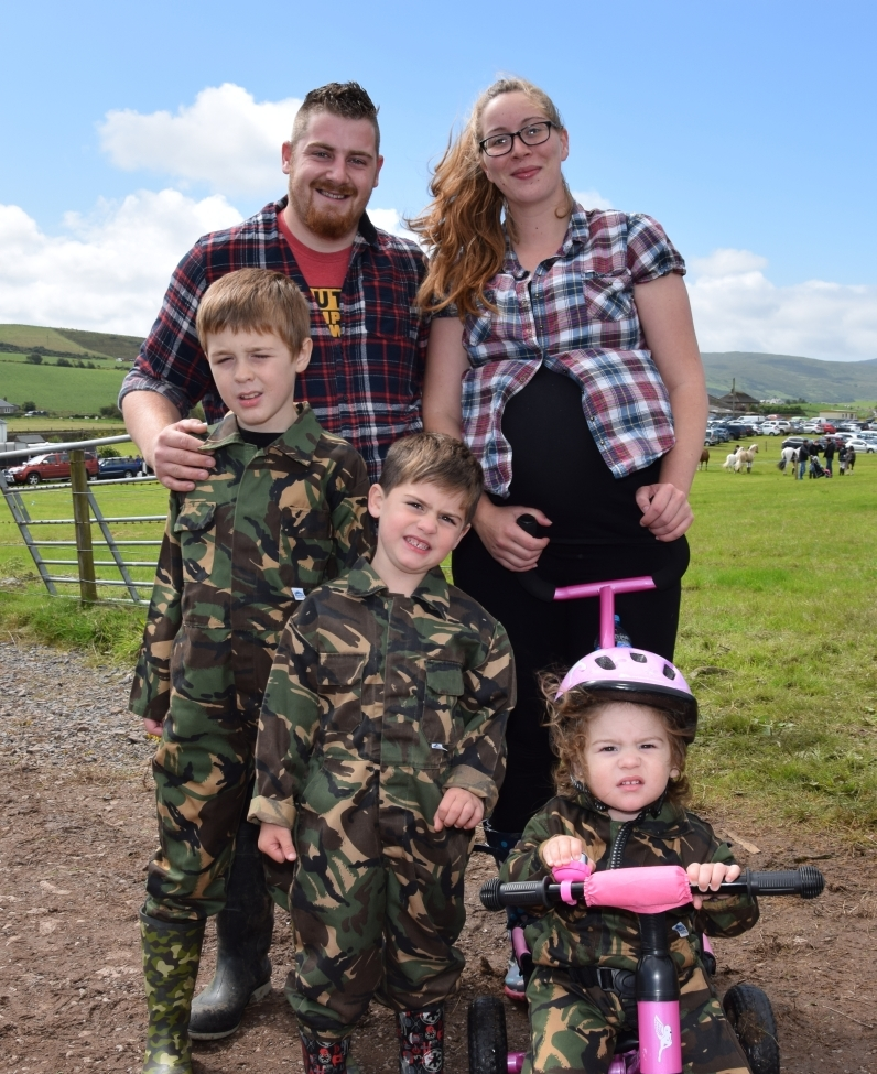 The McAulay family, Alexander and Mary, with children Daniel, eight, Jamey, five and Sophie, one, visited the showground. 50_c32kintyreshow25_mcaulay family