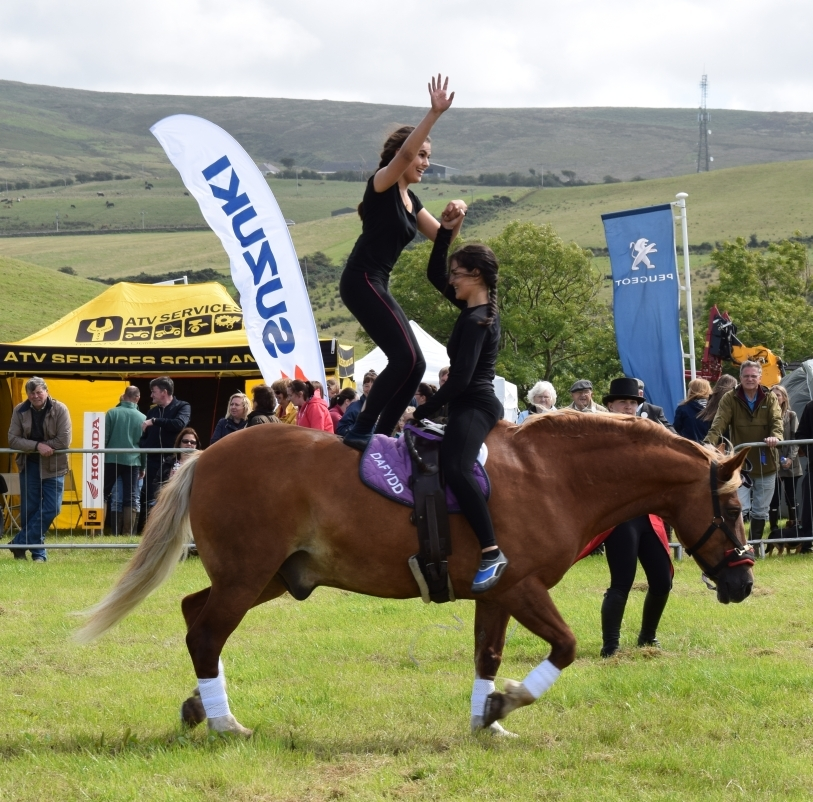 Some of the equine acrobatics which entertained the crowd before the presentatino of trophies. 50_c32kintyreshow53_horse gymnastics