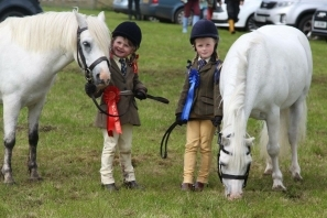 Louise Ralston, champion of the Garth Cup in the horse and pony section, with reserve champion Alyssa McEachran. NO_c32kintyreshow72_children ponies