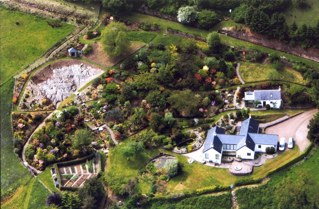 An Ceardach from above - there are lots of paths to take around the garden. NO_c35anceardach18_garden now