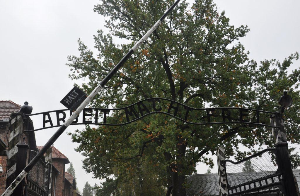 The notorious 'Arbeit Macht Frei' gate. 04_c41auschwitz02