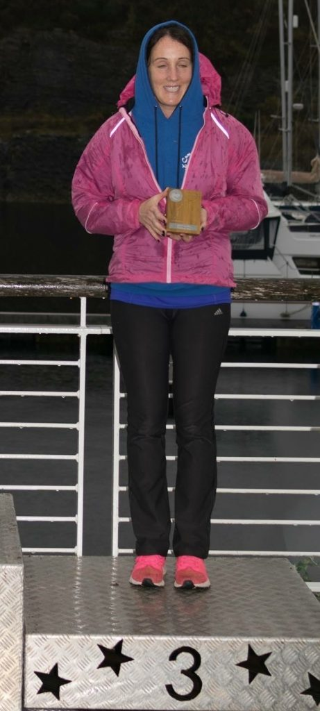 Campbeltown Running Club's Sarah McFadzean made it onto the podium. NO_c43cowal03_sarah mcfadzean