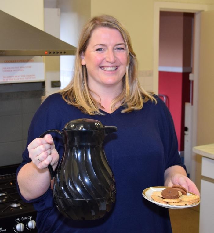 Mum Dorothy Ralston volunteered to help in the kitchen. 50_c47nursery03_kitchen