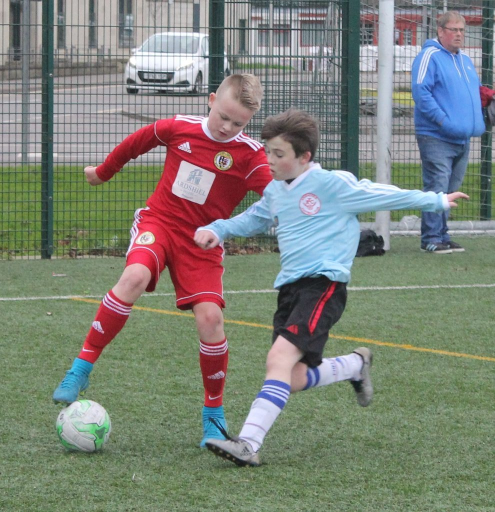 Calum McAllister fights for possession of the ball. NO_c47pupilsyouth04