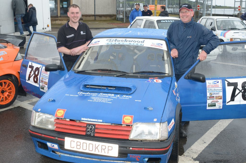 John Kean and Malcolm McDonald with the Peugeot 205 GTi they raced this year. 25_c28mach02_kean mcdonald