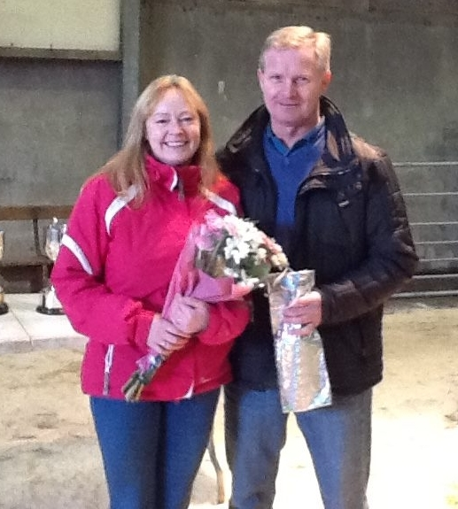 Hosts Tracy and Archie Millar of Ballygreggan Farm. NO_c49wintershow01_Tracy and Archie Millar
