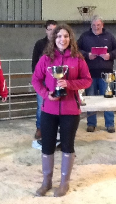 Kathryn Semple, of Kilkeddan Farm, winner of the Society cup for the best calf. NO_c49wintershow03_Kathryn Semple