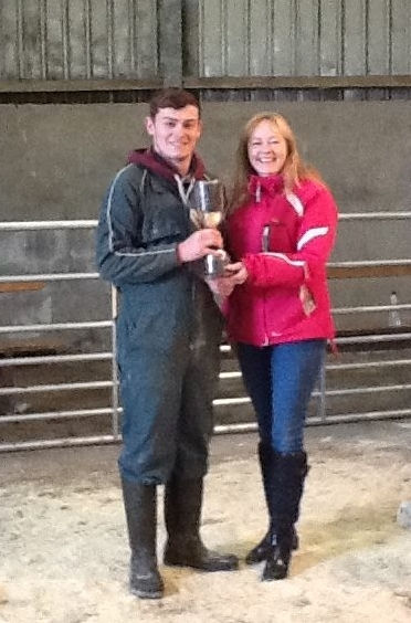 John Pirie, overall champion in the dairy section and winner of the County Garage cup. NO_c49wintershow04_John Pirie
