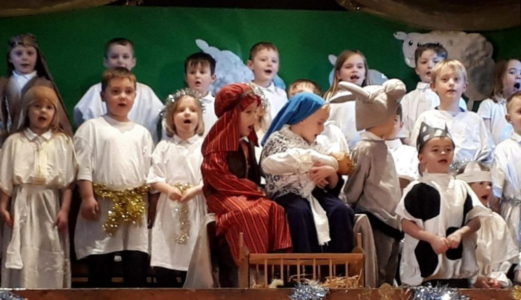 A scene from the children's nativity, Bethleben, the week before. NO_c51bethleben01
