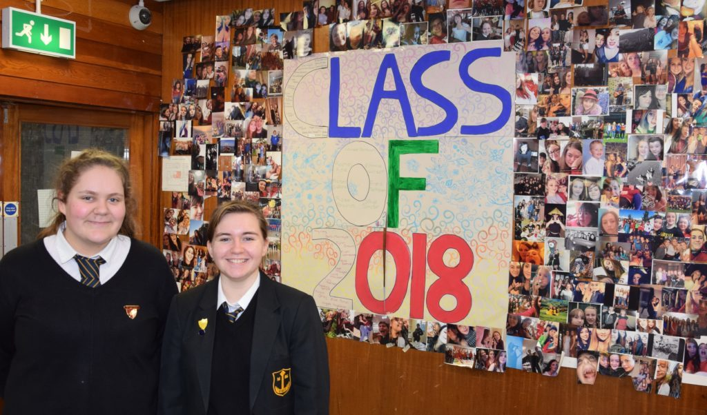 6th year students Eilidh Johnstone and Christina McFadyen led one of the tours round the school. 50_c04oldgrammar15