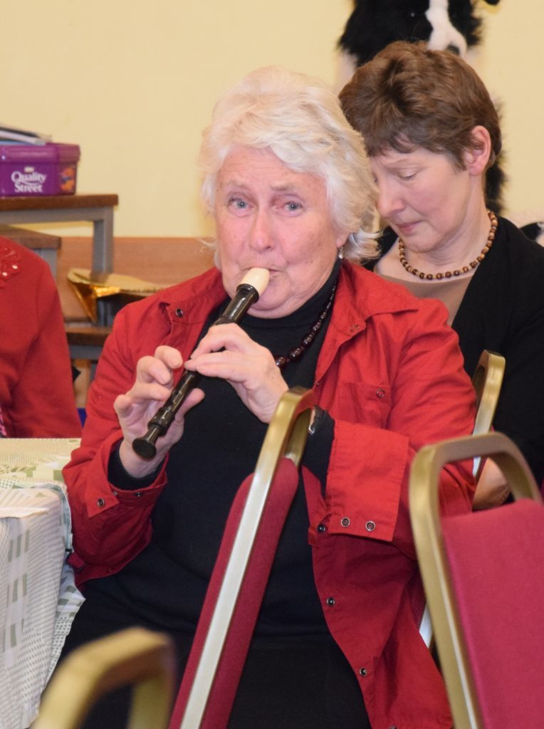 Katie Pendreigh played the recorder. 50_c06churchsupper04_katie pendreigh