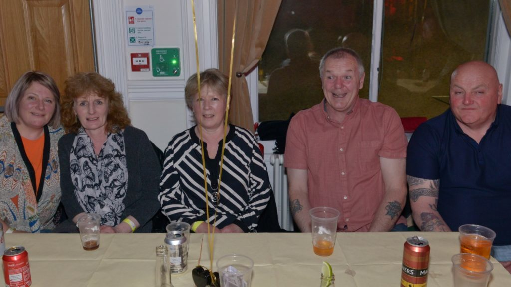 Enjoying the party were: Mandy Lay Robertson, Tracy McSporran, Mandy Lang, Dougie Lang and Ian McSporran. 25_c15resurrectionvabd08