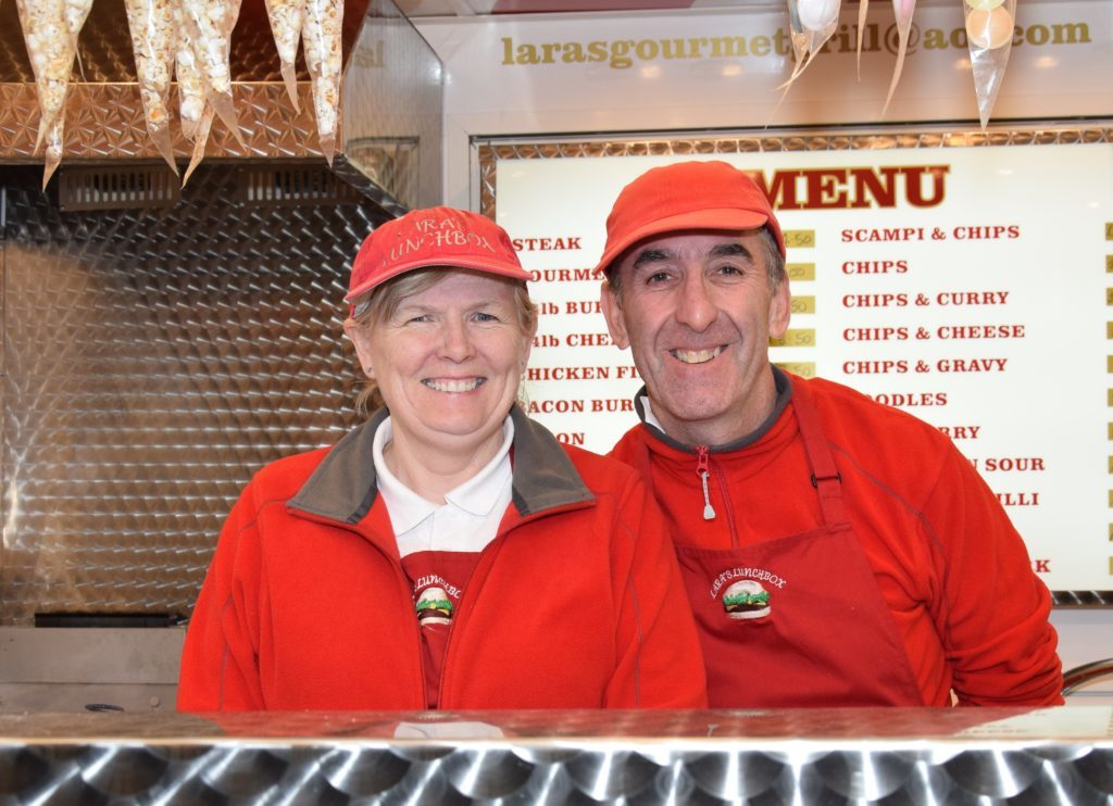 Dorothy and Gilbert Carter, of Lara's Gourmet Grill, provided catering.