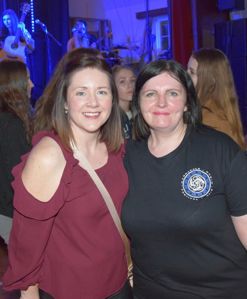 Proud mums: Louise Mackay, left, whose son, Darren, performed with Western Sound, and right, Raymond Gosling's mum, Maryann.