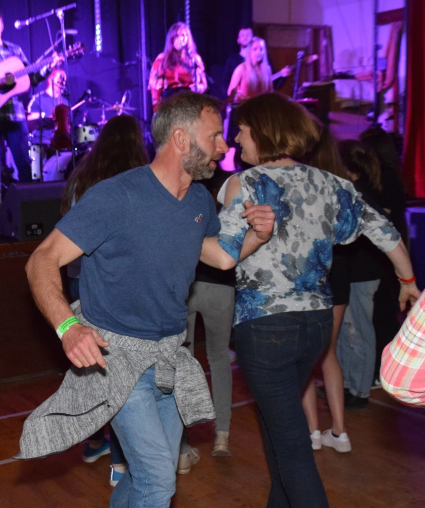 Dancers packed the floor on Saturday night.