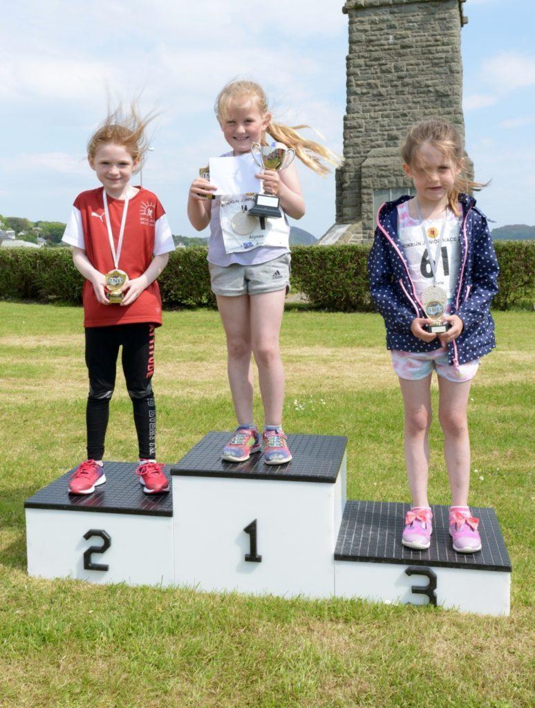Girls 5-6 podium