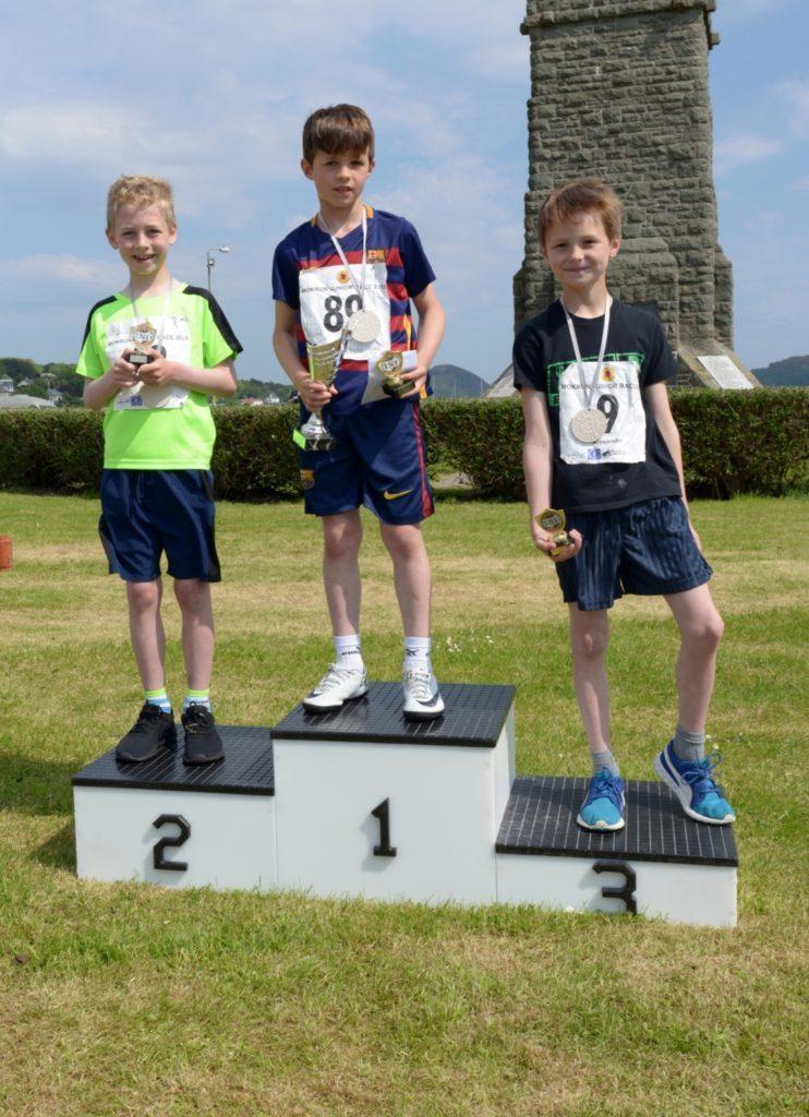 Boys 7-8 podium