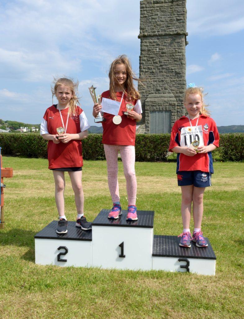 Girls 7-8 podium