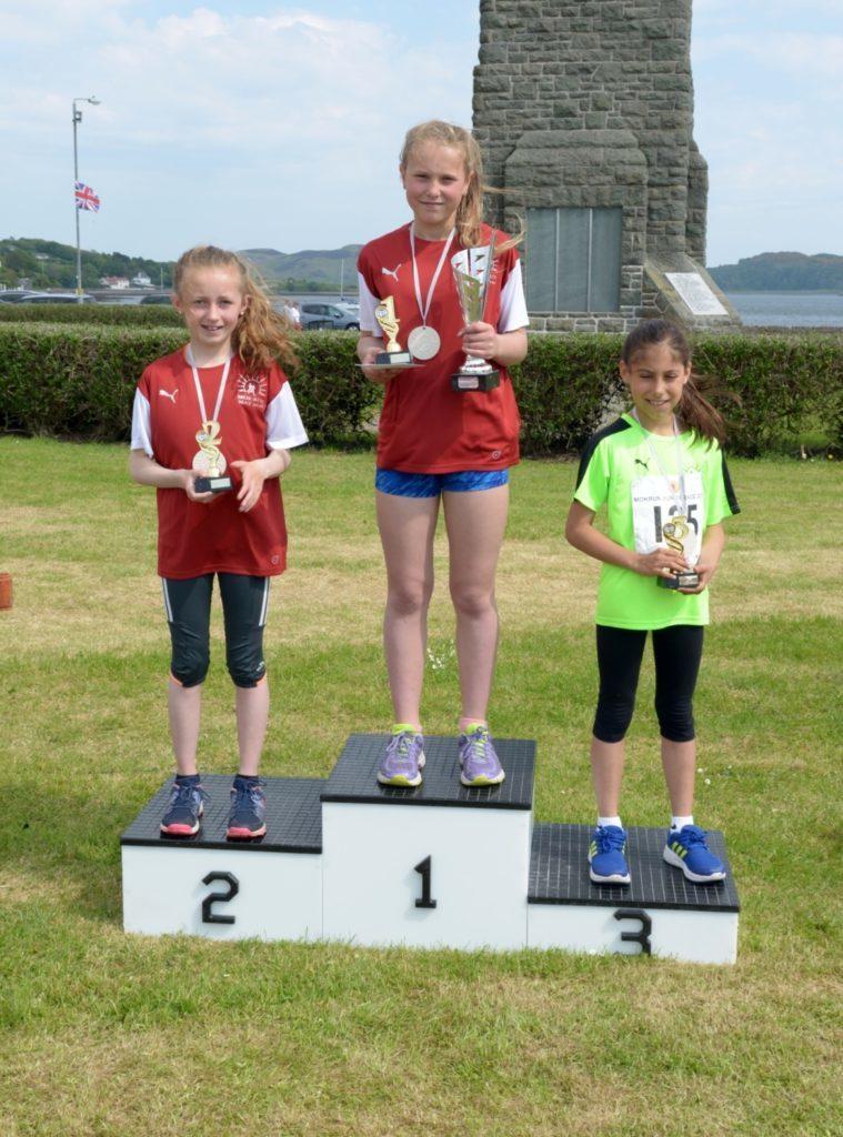 Girls 9-11 podium