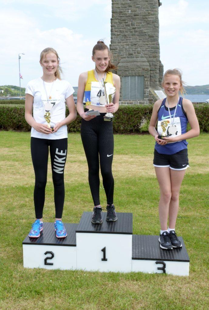Girls 12-14 podium
