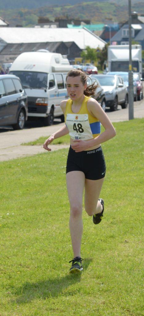 Girls 12-14 winner Ella McGregor led  the race.