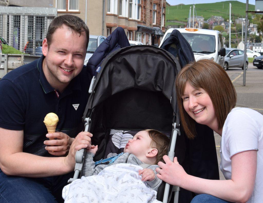 Alisdair Hill, Laura Galbraith and Arran McGeachy.