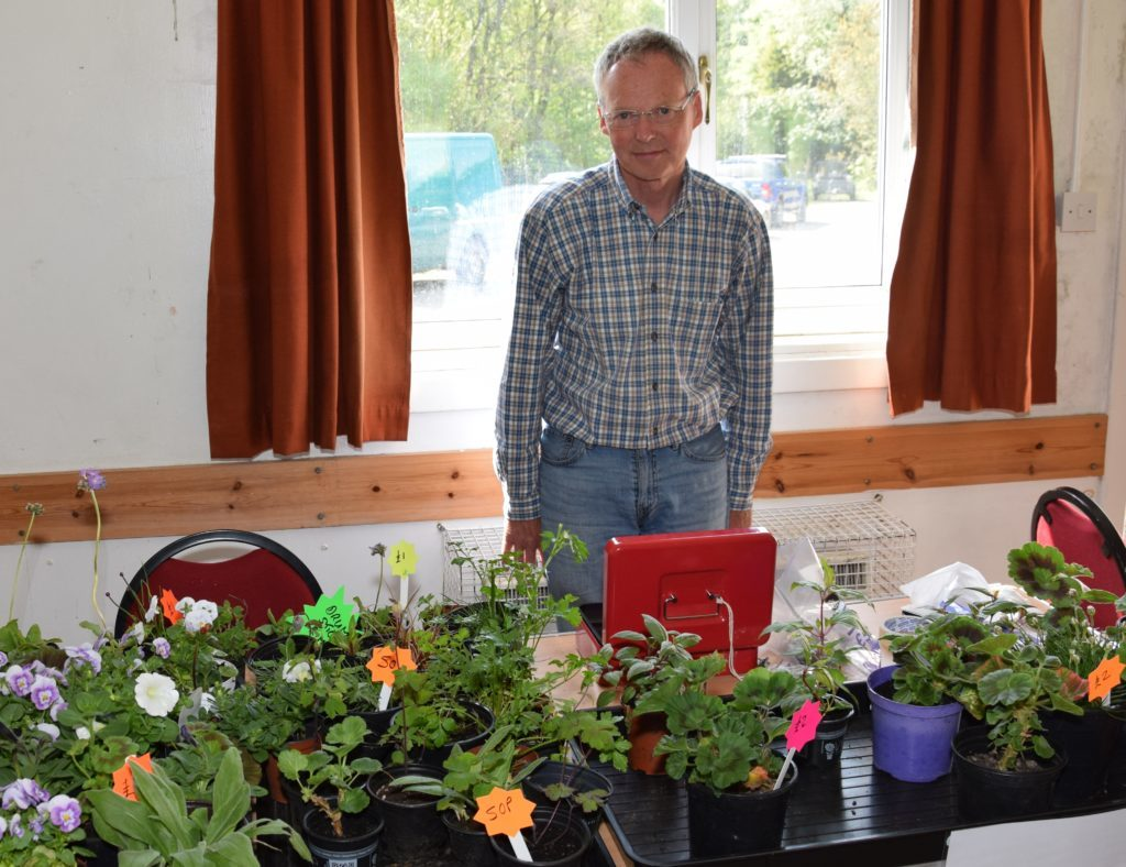Malcolm Ward sold a range of plants.