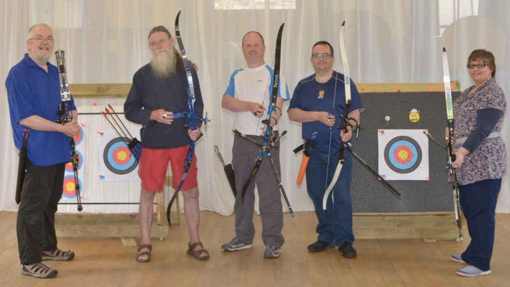 Kintyre Arrows members from left: Stuart Jardine, Iain Ronald, Craig Scally, Andrew Mitchell and Tripti Samal.
