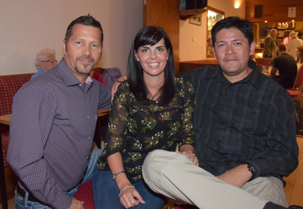 Fred Miskell, Donna Vigil and Blaise Vigil travelled all the way from Colorado in the USA, to visit Donna's family.