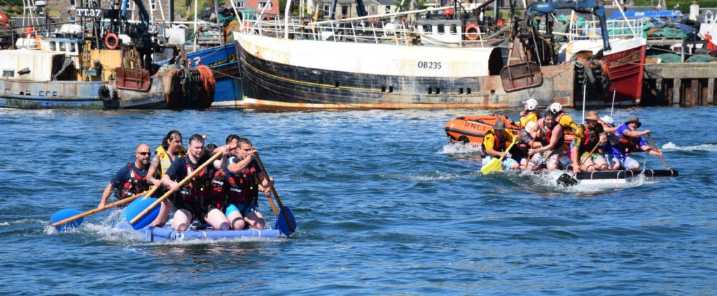 The race was on for second place, with the Coastguard team just ahead of Calum McKinven's.