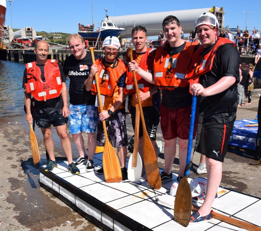 The winning team: David Reid, Greg McMurchy, Gregor Menzies, Mathew Conley, Lorne McMurchy and Ruaridh Mcaulay.