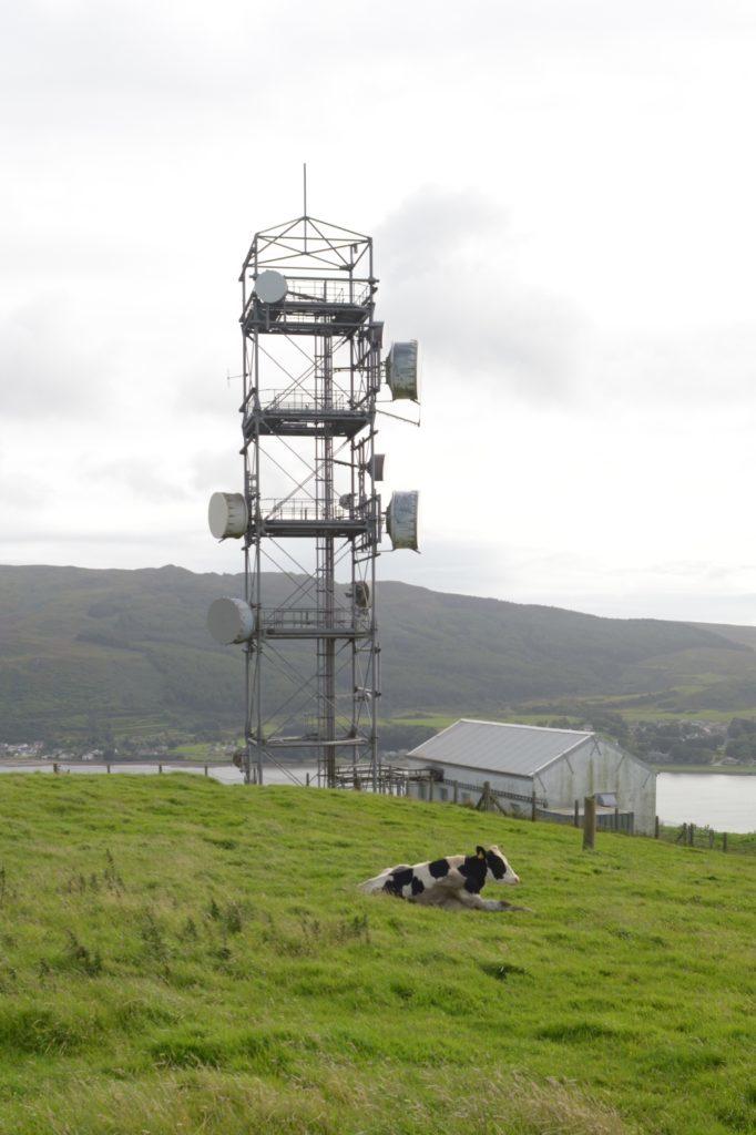 Campbeltown's main telecommunications mast.