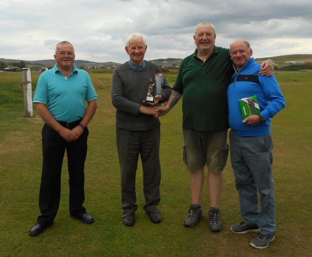 Left to right: Danny Halliday, Sandy Watson, Robert Allan Jr and John McDowall.
