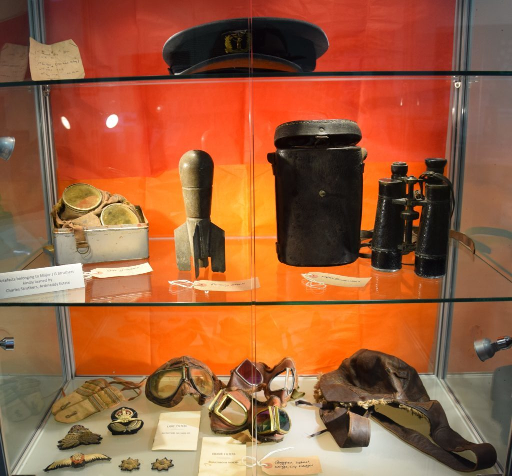 A small selection of the artifacts belonging to Major Struthers' son Charles.