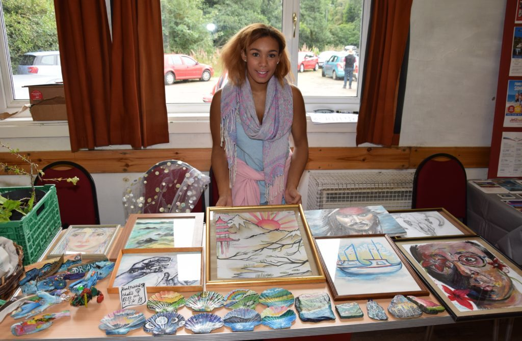 Gaia Silvan sold her own artwork.
