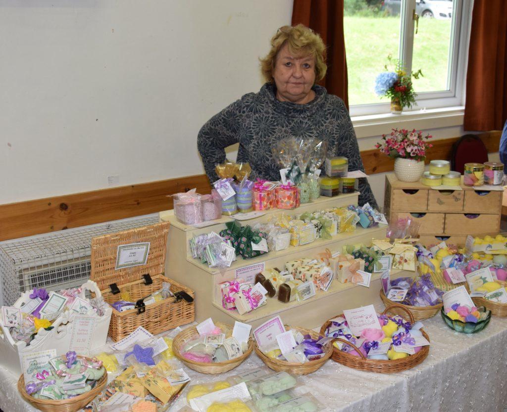 Karen Henderson, of Kilmartin-based Handmade on the Hill, sold handmade soaps.