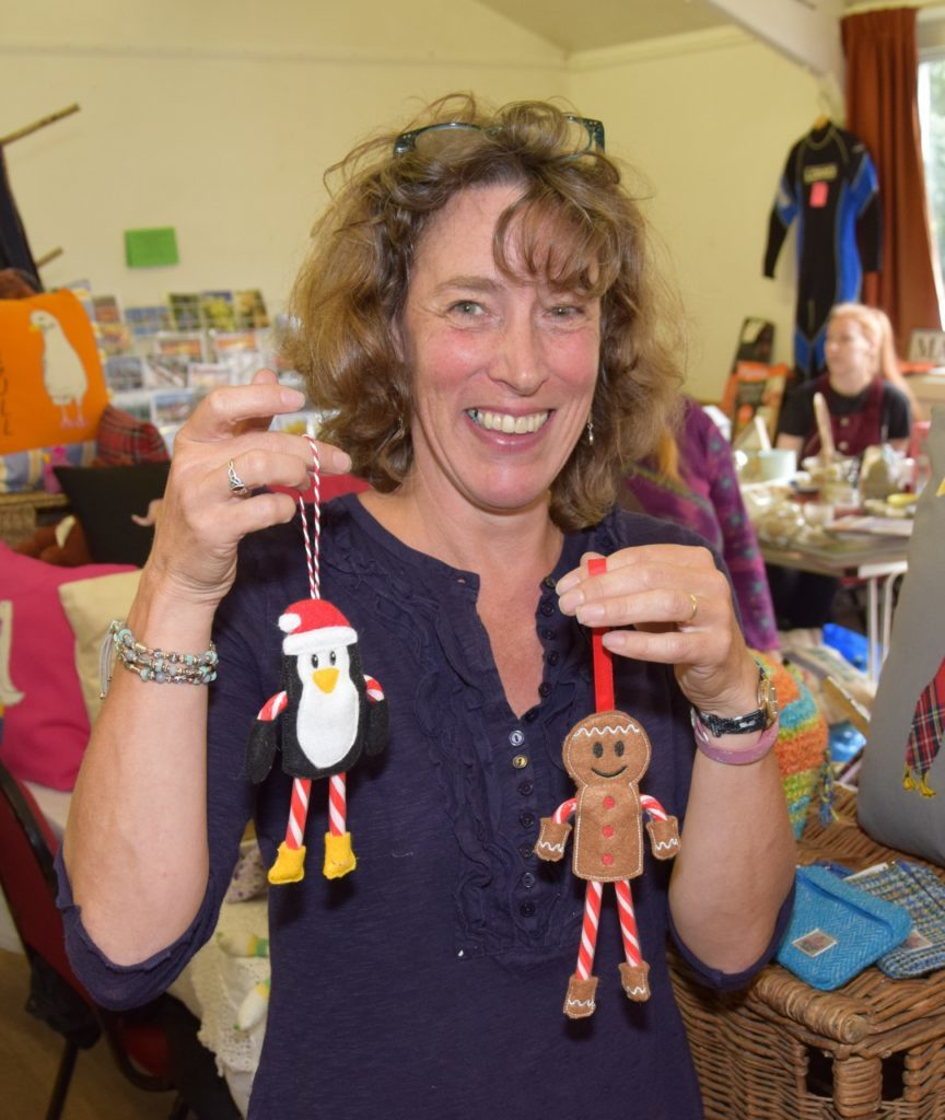 Christmas came early to Jane Bruce from Ardrishaig's Aunty Jane's Crafts stall.