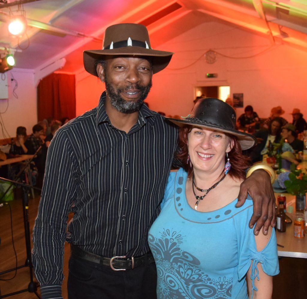 Organisers Garreth Roberts and Lori Silvan.
